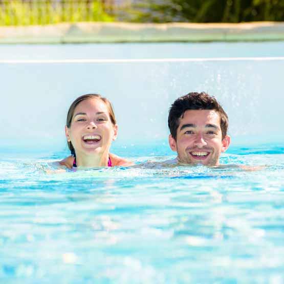 Camping pas cher avec piscine Biscarrosse