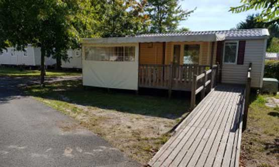 Vente mobil-home Landes camping