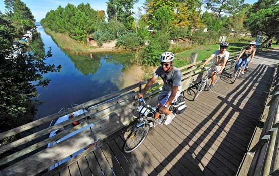 biscarrosse à vélo