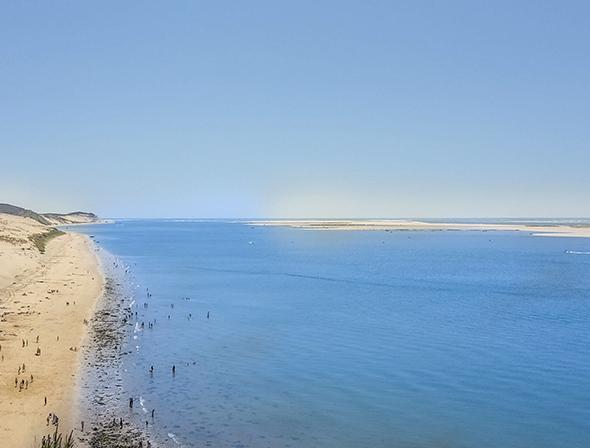 beach near the dunes of the pilat