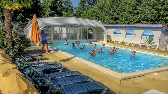 Camping landais avec piscine