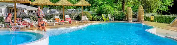 camping with swimming pools Landes