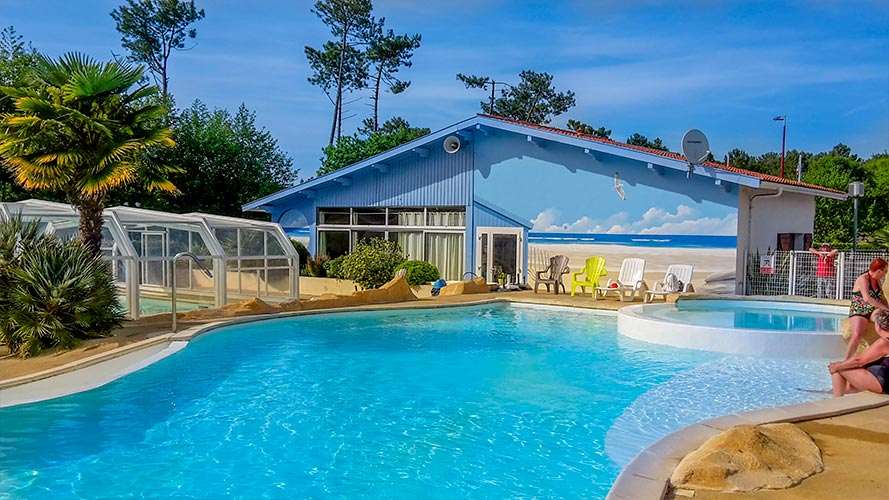 camping avec piscine chauffée landes