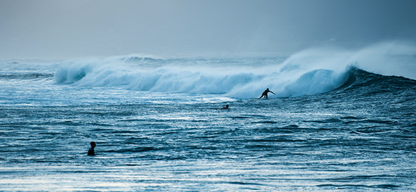 surfing in the Landes