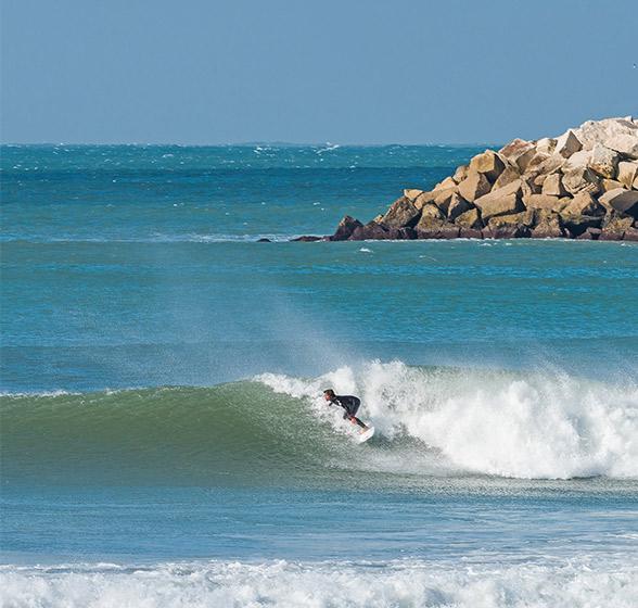 surfeando en las Landas