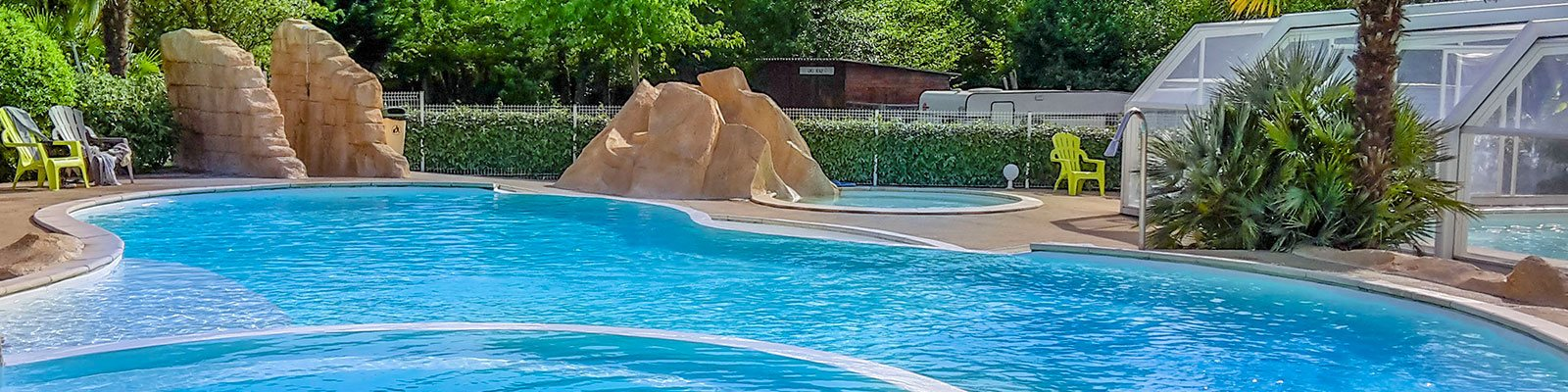 camping with swimming pool on the beach Landes