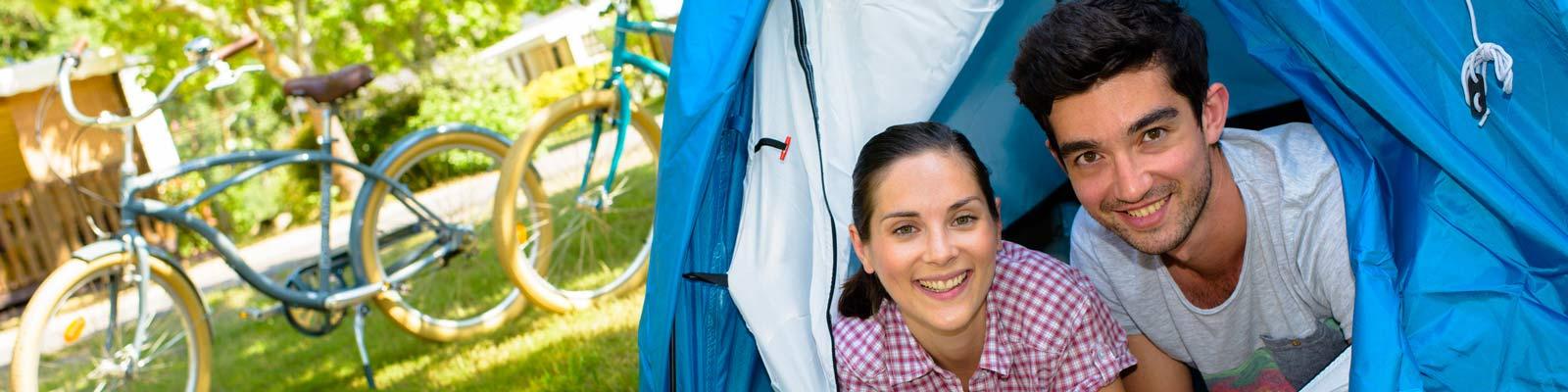 Camping louant des emplacements dans les Landes