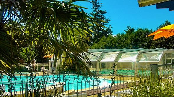 camping biscarrosse avec piscine chuaffée