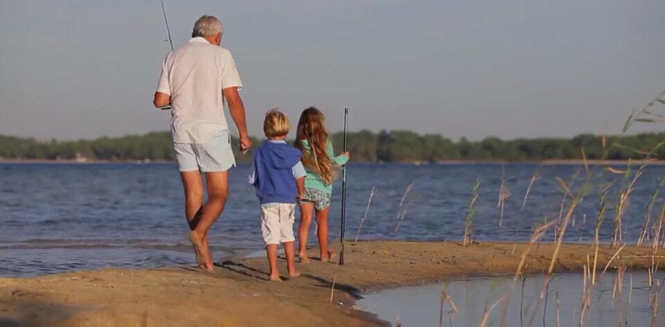 le lac de biscarrosse dans les landes