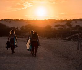 surfeuses à Biscarrosse